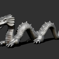 Small Chinese Dragon  3D Printing 165947