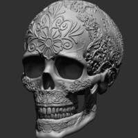 Small Ornament Skull 3D Printing 165949