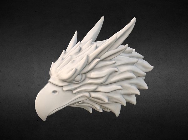 Medium Griffin head Eagle head 3D Printing 166009