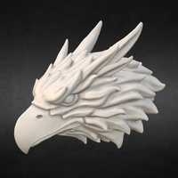 Small Griffin head Eagle head 3D Printing 166009