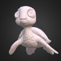 Small Turtle. Sea turtle cartoon 3D Printing 166050