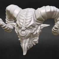 Small Demon head Bead 3D Printing 166083