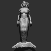 Small Mermaid 3D Printing 166220