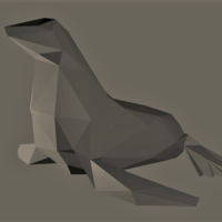 Small Low-Poly Seal 3D Printing 166260