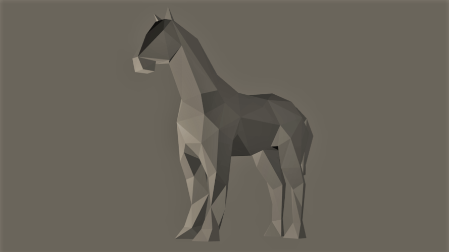 Low-Poly Horse 3D Print 166261