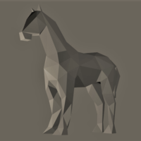 Small Low-Poly Horse 3D Printing 166261
