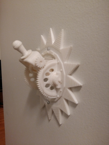 Steampunk Mechanical Light Switch 3D Print 166271