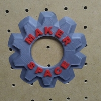 Small Maker Space Wall Gear Deco 3D Printing 166302