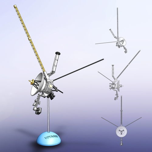 Voyager Satellite Desktop Model 3D Print 166336