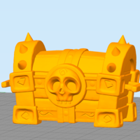 Small Skull Chest 3D Printing 166381