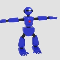 Small Robot Character Cartoon Bot 3D Printing 166400