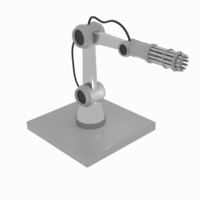 Small Gun Robot Arm 3D Printing 166412
