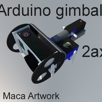 Small Gimbal for sjcam (gopro),2axis . powered 2servos and arduino+mpu 3D Printing 166500