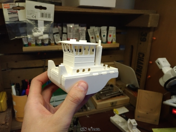 Scale RC micro tugboat Springer V3 by Maca-artwork 3D Print 166525