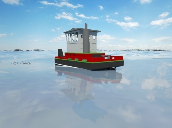 Scale RC micro tugboat Springer V3 by Maca-artwork 3D Print 166529