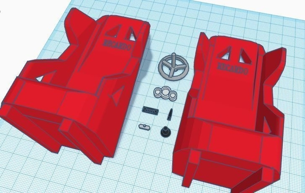 Medium 1:10 Scale RC Interior and Seats 3D Printing 166537