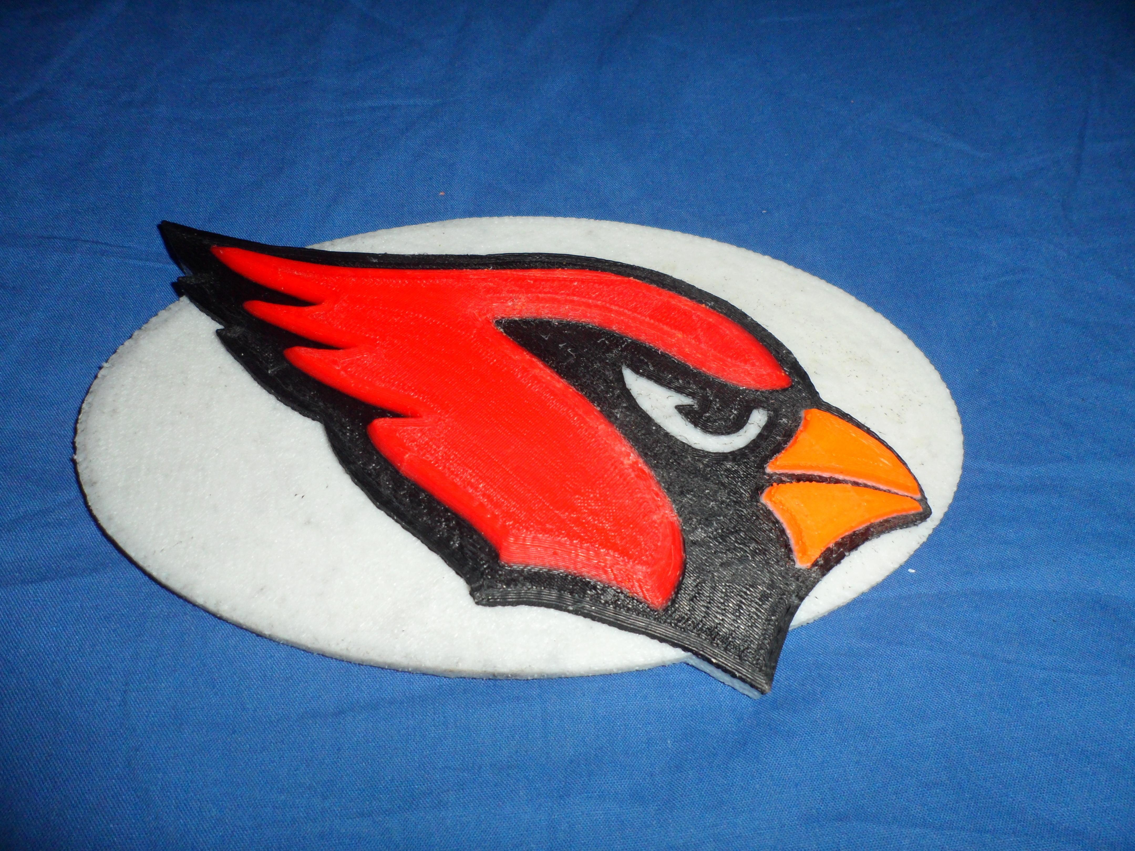 ce43e77911d 3D Printed Cardinals football logo by rds2 | Pinshape
