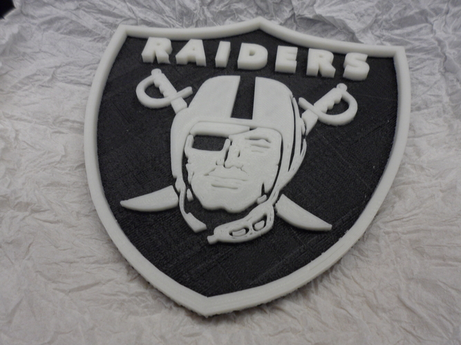 Oakland Raiders football logo 3D Print 166588
