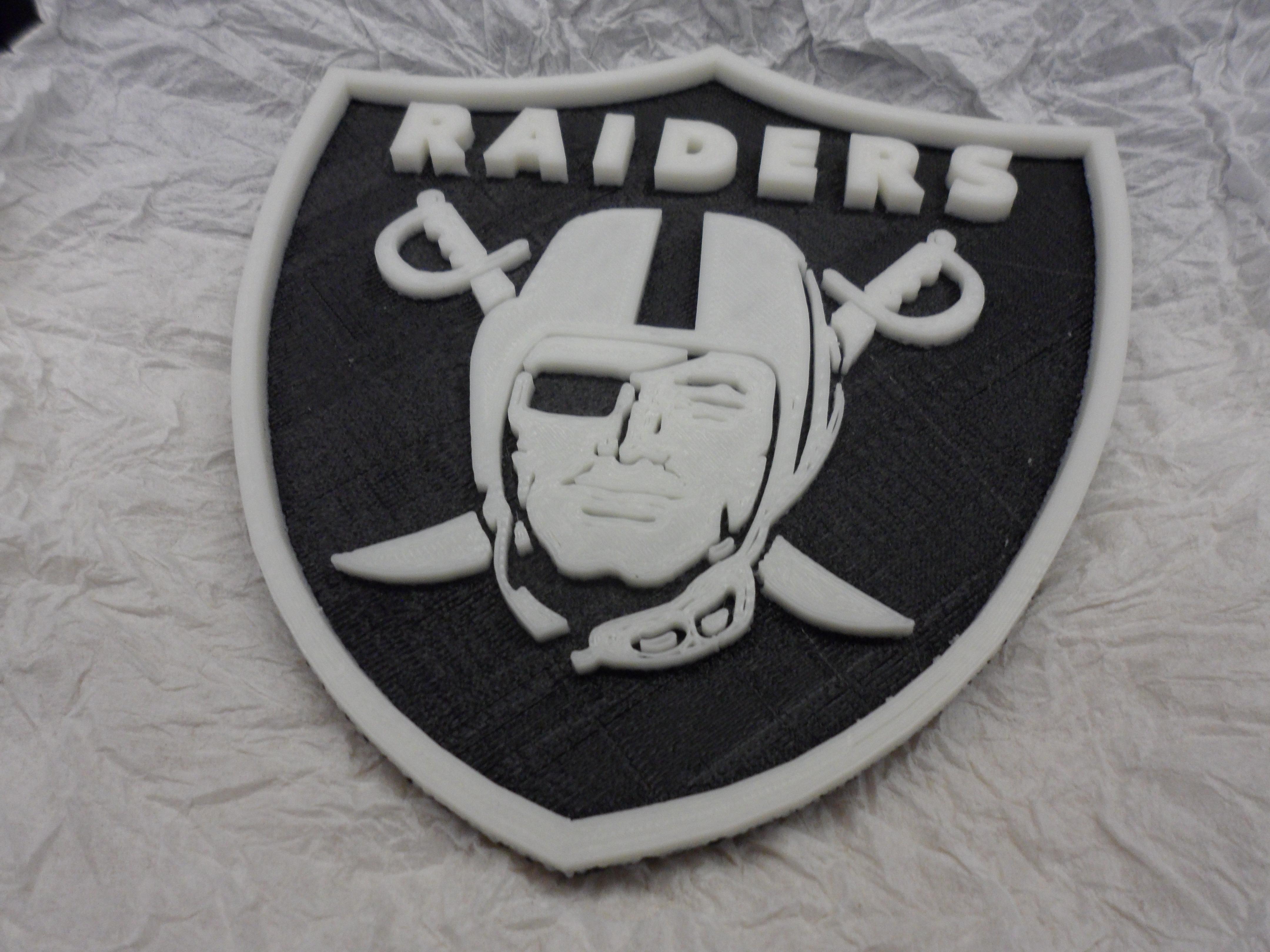3d printed oakland raiders football logo by rds2 pinshape buycottarizona
