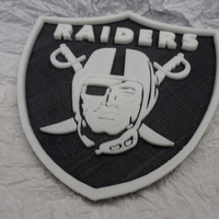 Small Oakland Raiders football logo 3D Printing 166588