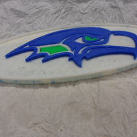 Small Seattle Seahawks football logo 3D Printing 166591