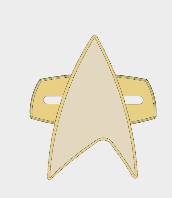 Medium Star-Trek Voyager Combadge 3D Printing 166645