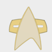 Small Star-Trek Voyager Combadge 3D Printing 166645