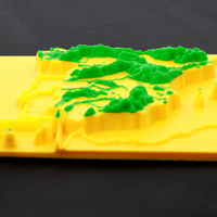 Small Mountain range in relief Spain 3D Printing 166653