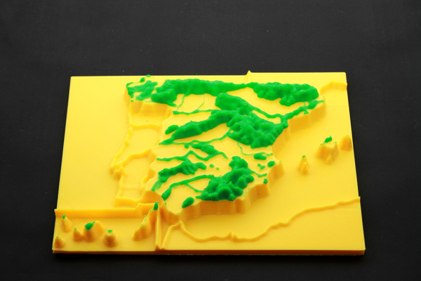 Medium map 3d mountain ranges, spain 3D Printing 166660