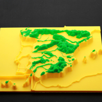 Small map 3d mountain ranges, spain 3D Printing 166660