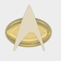 Small Star-Trek: The Next Generation Combadge 3D Printing 166699