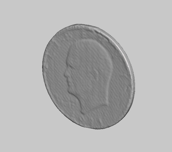 U.S. Liberty Dollar Coin NextEngine Scan 3D Print 166780