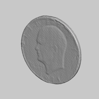Small U.S. Liberty Dollar Coin NextEngine Scan 3D Printing 166780