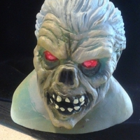 Small Monster Zombie Halloween Head 3D Printing 166781