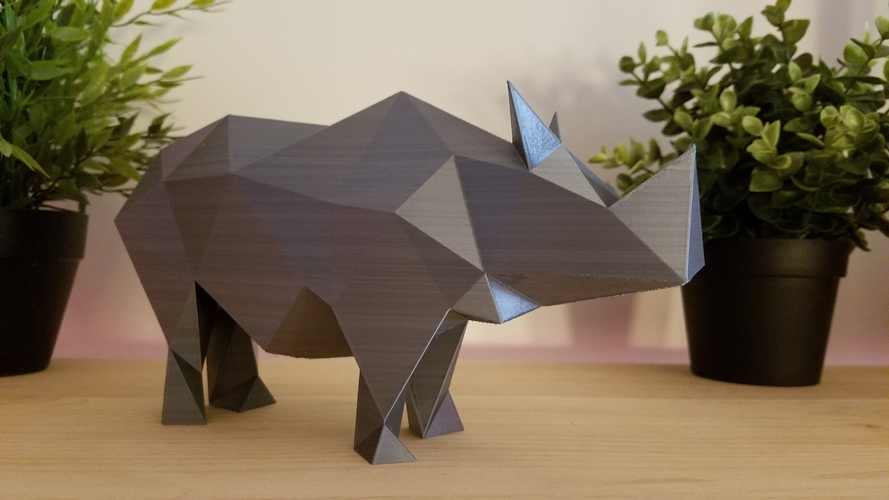 Low-Poly Rhino 3D Print 166809