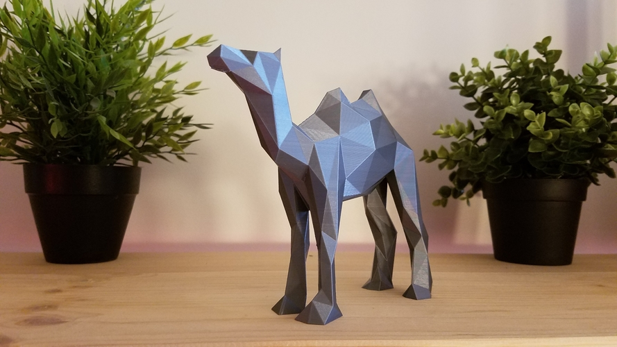 Low-Poly Camel 3D Print 166822