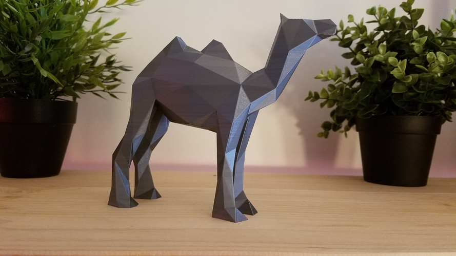 Low-Poly Camel 3D Print 166824