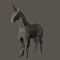 Small Low-Poly Unicorn 3D Printing 166866