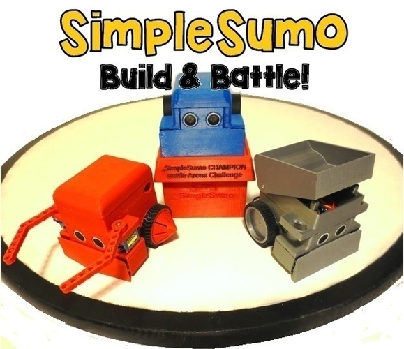 Wheels & Tires: SimpleSumo Expansions 3D Print 166892