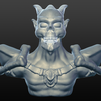 Small Demon Bust 3D Printing 166929