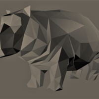 Small Low-Poly Hippo 3D Printing 166938