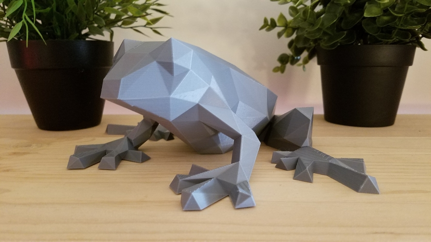 Low-Poly Frog 3D Print 166968