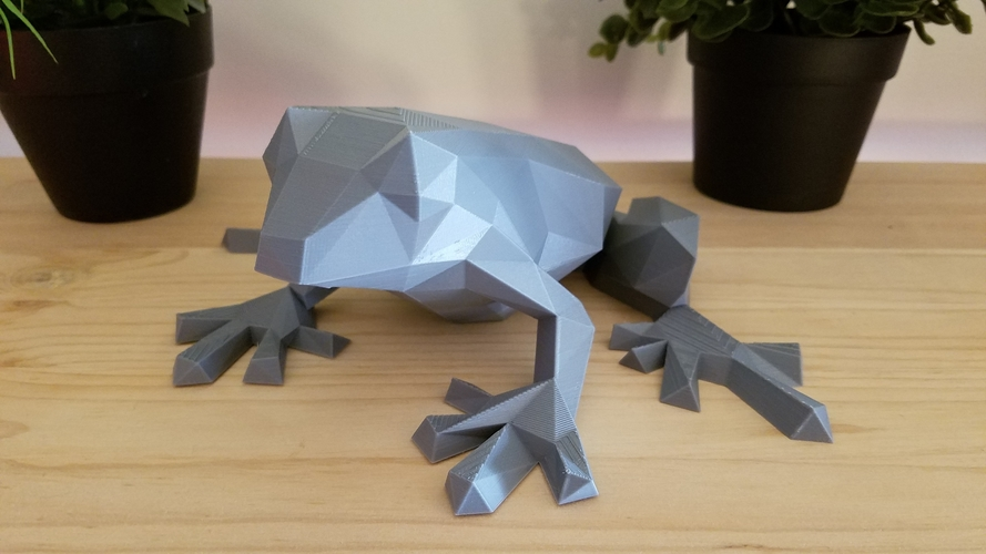 Low-Poly Frog 3D Print 166969
