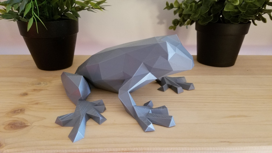 Low-Poly Frog 3D Print 166970