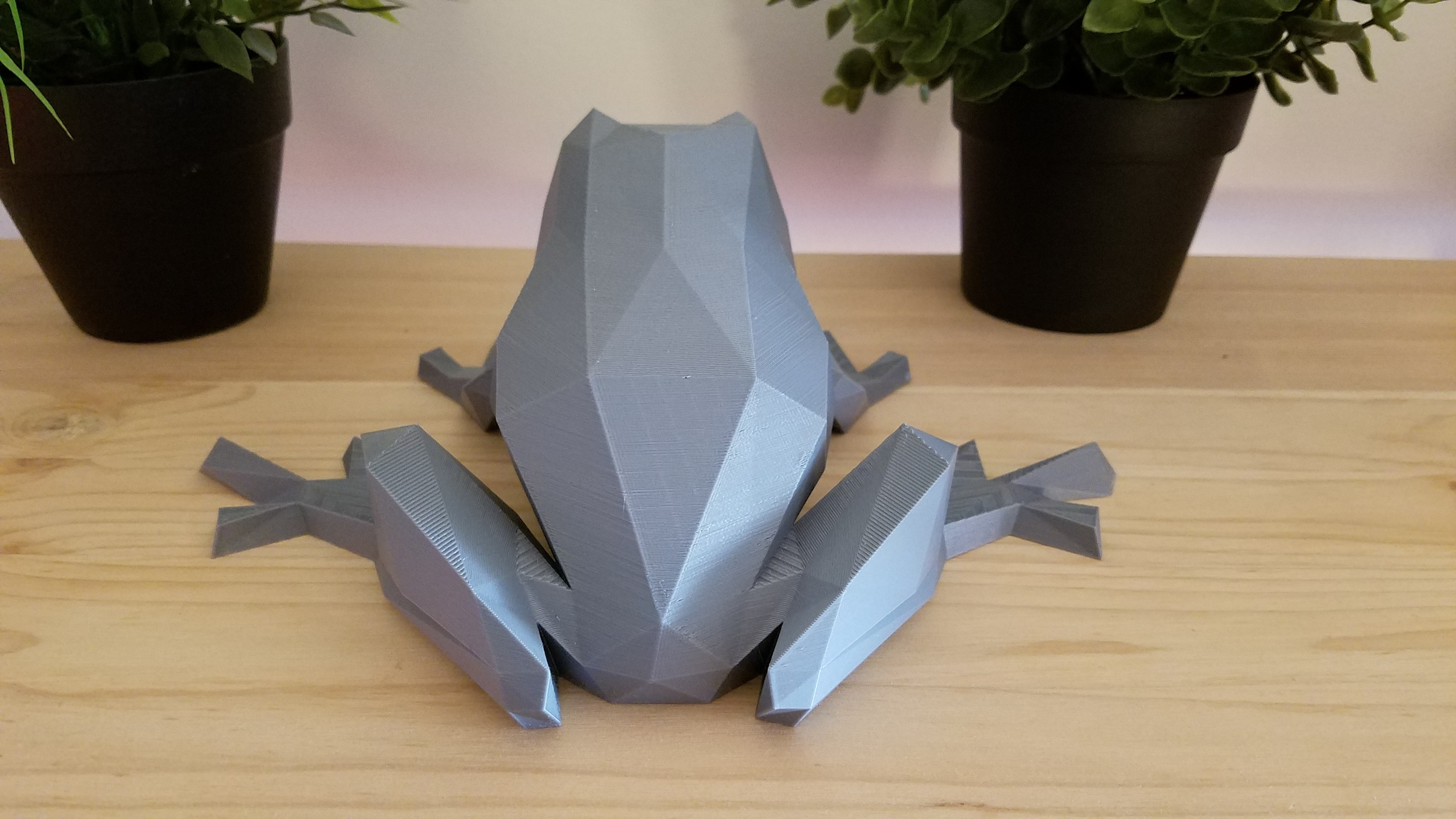 3D Printed Low-Poly Frog by DominimaDesign | Pinshape