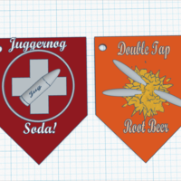 Small Perk-A-Cola key chains, Juggernog and Double tap 3D Printing 167149