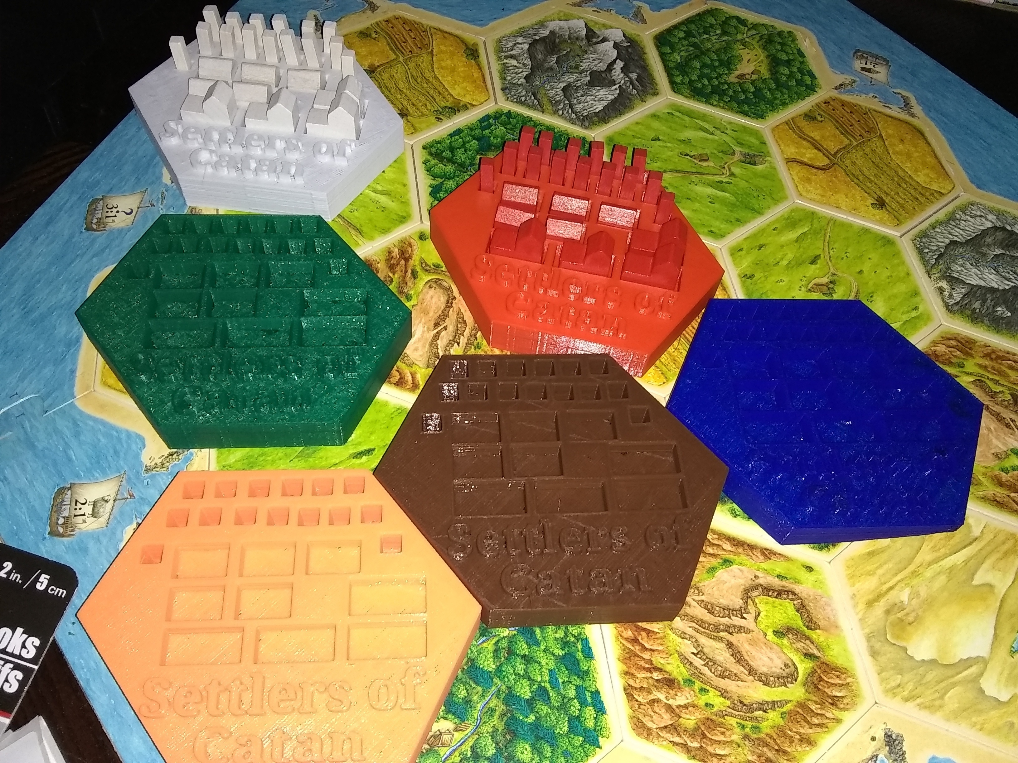 image relating to Settlers of Catan Printable called 3D Released Settlers of Catan Areas Holder via Dave Goliath