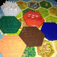 Small Settlers of Catan Pieces Holder 3D Printing 167157