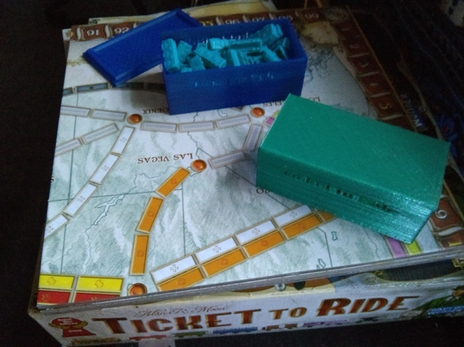 Ticket to Ride train box w/ Lid 3D Print 167158