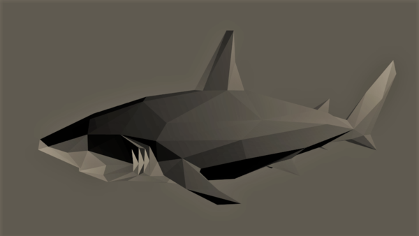 Medium Low-Poly Shark 3D Printing 167275